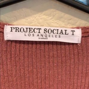 Project Social T Tops - Project social T silty keyhole cold shoulder tee